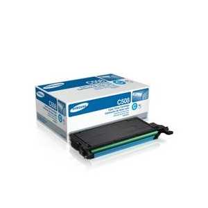 Original Samsung CLT-C508S Cyan toner cartridge, 2500 pages