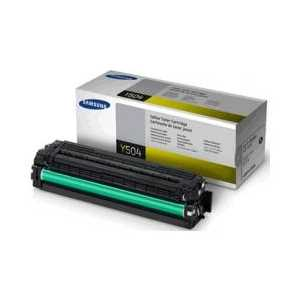 Original Samsung CLT-Y504S Yellow toner cartridge, 1800 pages