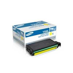 Original Samsung CLT-Y508L Yellow toner cartridge, High Yield, 5000 pages