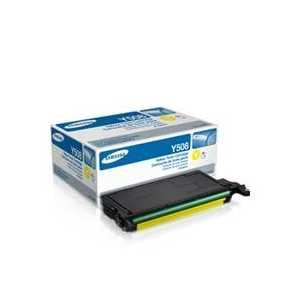 Original Samsung CLT-Y508S Yellow toner cartridge, 2500 pages