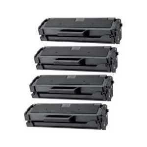 Compatible Samsung MLT-D101S Black toner cartridges, 4 pack