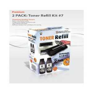 Toner Refill Kit for Brother TN350 - 2 PACK - Uni-Kit Bulk Toner